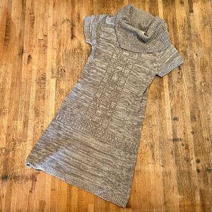 Papaya gray marled cowl neck sweater dress